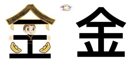 學中文象形字感偏旁字金
