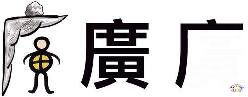 學中文象形字感偏旁字廣