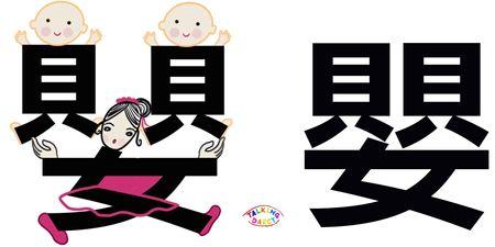 學中文象形字感(Chinese pictograph)嬰