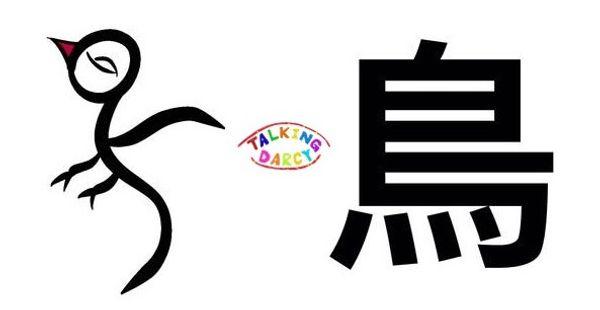 學中文象形字感偏旁字鳥