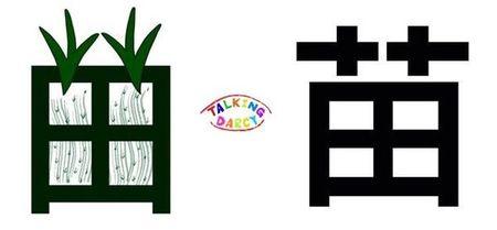 學中文象形字感(Chinese pictograph)苗