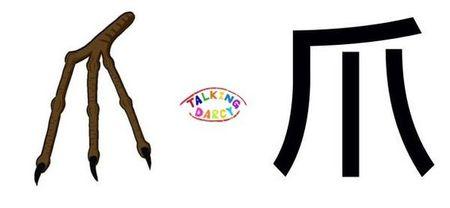 學中文象形字感偏旁字爪