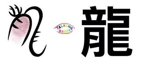 學中文象形字感(Chinese pictograph)龍