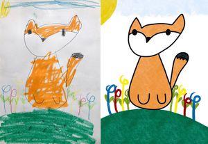畫畫示範狐狸