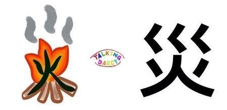 學中文象形字感(Chinese pictograph)災