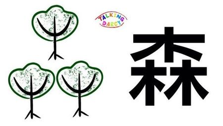 學中文象形字感(Chinese pictograph)森