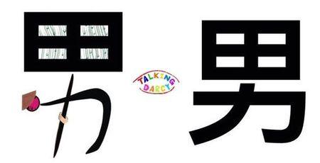 學中文象形字感(Chinese pictograph)男