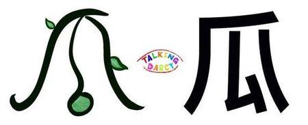 學中文象形字感(Chinese pictograph)瓜