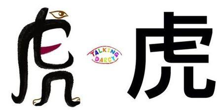 學中文象形字感(Chinese pictograph)虎