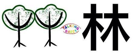 學中文象形字感(Chinese pictograph)林