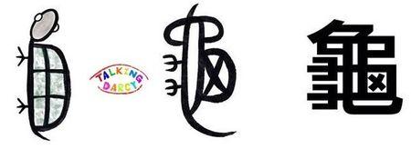 學中文象形字感(Chinese pictograph)龜