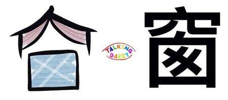 學中文象形字感(Chinese pictograph)窗
