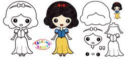 拼學趣勞作-迪士尼公主著色剪貼