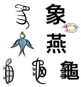 象形字感學中文組字練習單-象、燕、龜