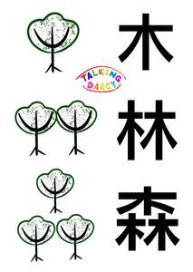 象形字感學中文組字練習單-木、林、森